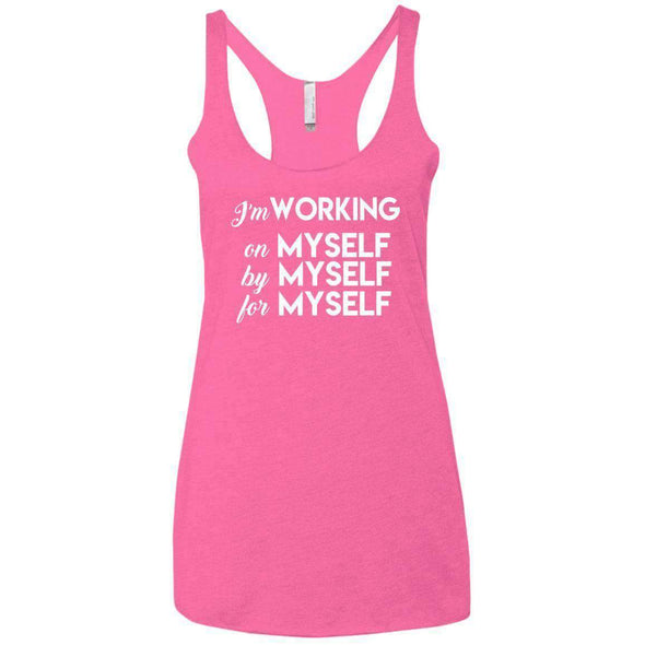 I'm working for myself T-Shirts CustomCat Vintage Pink X-Small
