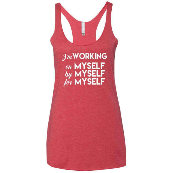 I'm working for myself T-Shirts CustomCat Vintage Red X-Small