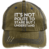 It's Not Polite to Stare Hats CustomCat Brown/Navy One Size