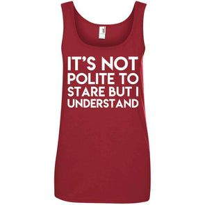 It's Not Polite to Stare T-Shirts CustomCat Red Small