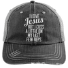 Jesus Cuss A Little Hats CustomCat Black/Grey One Size