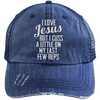 Jesus Cuss A Little Hats CustomCat Navy/Navy One Size