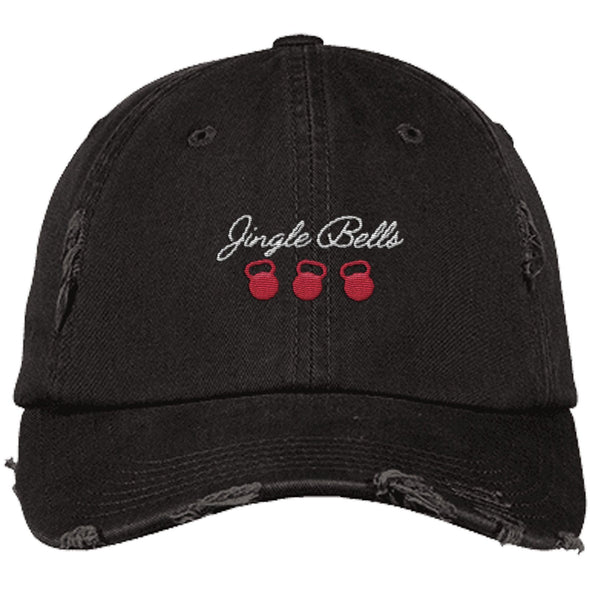 Jingle Bells Cap Apparel CustomCat District Dad Cap Black One Size