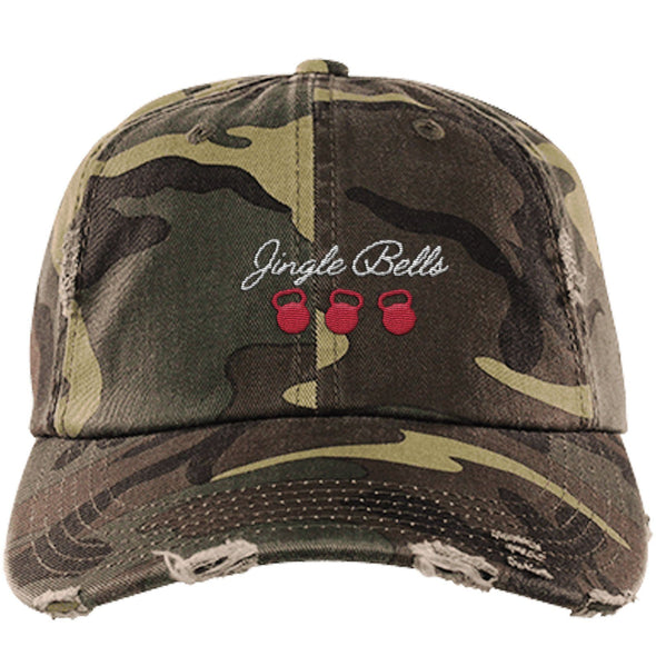 Jingle Bells Cap Apparel CustomCat District Dad Cap Military Camo One Size