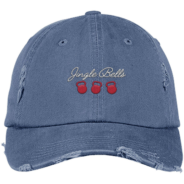 Jingle Bells Cap Apparel CustomCat District Dad Cap Scotland Blue One Size