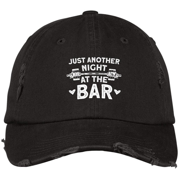 Just Another Night at the Bar Caps Apparel CustomCat DT600 District Distressed Dad Cap Black One Size