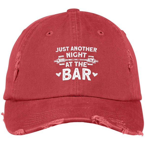 Just Another Night at the Bar Caps Apparel CustomCat DT600 District Distressed Dad Cap Dashing Red One Size