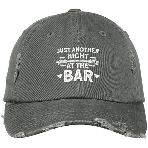 Just Another Night at the Bar Caps Apparel CustomCat DT600 District Distressed Dad Cap Light Olive One Size