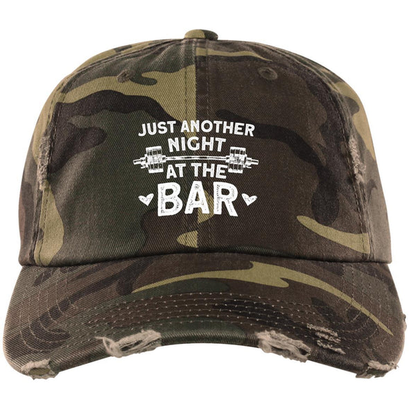 Just Another Night at the Bar Caps Apparel CustomCat DT600 District Distressed Dad Cap Military Camo One Size