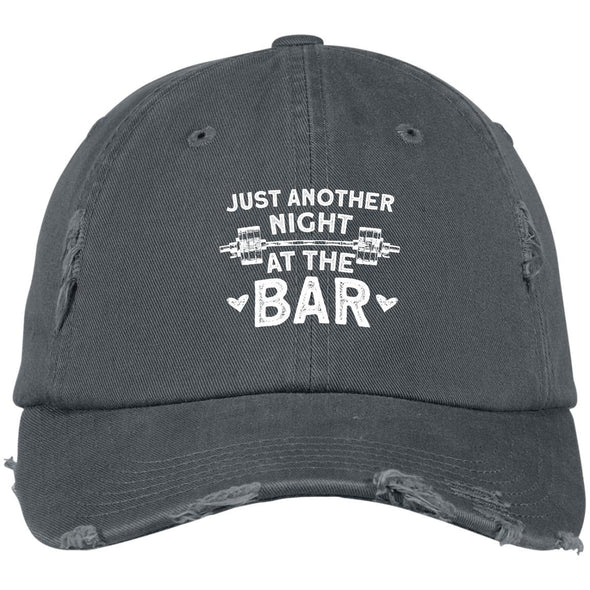 Just Another Night at the Bar Caps Apparel CustomCat DT600 District Distressed Dad Cap Nickel One Size