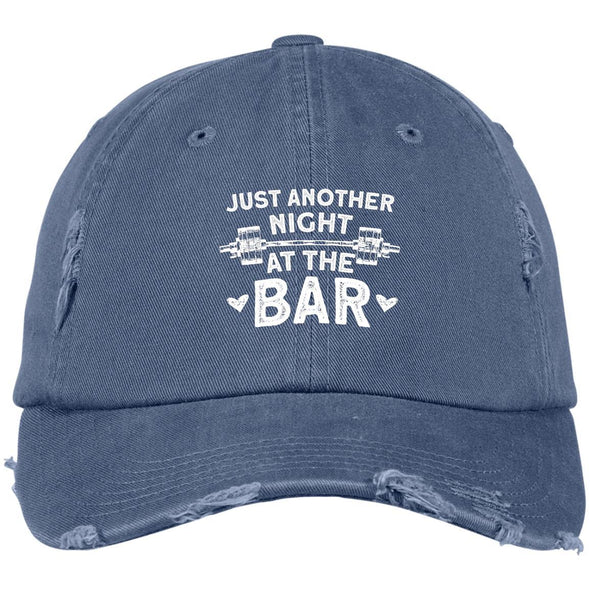 Just Another Night at the Bar Caps Apparel CustomCat DT600 District Distressed Dad Cap Scotland Blue One Size