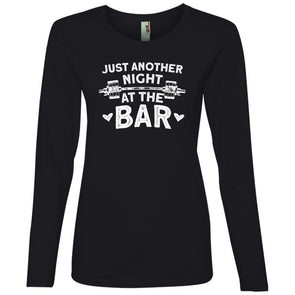 Just Another Night in the Bar Long Sleeve T-Shirt T-Shirts CustomCat Black S