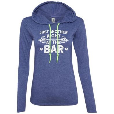Just Another Night in the Bar T-Shirt Hoodie T-Shirts CustomCat Heather Blue/Neon Yellow S