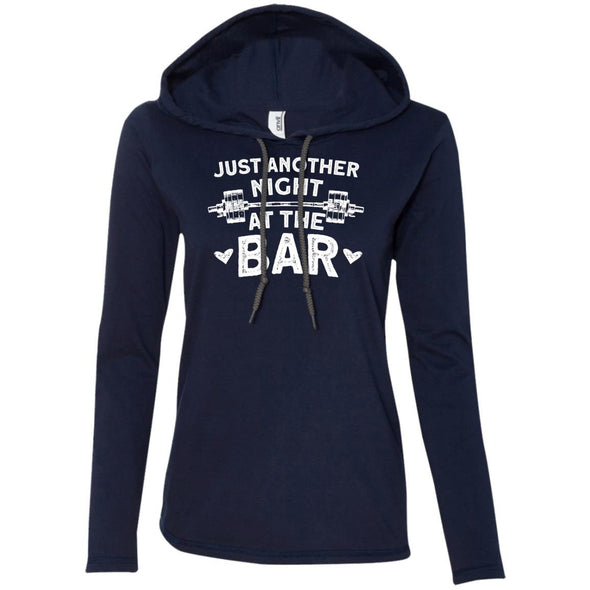 Just Another Night in the Bar T-Shirt Hoodie T-Shirts CustomCat Navy/Dark Grey S