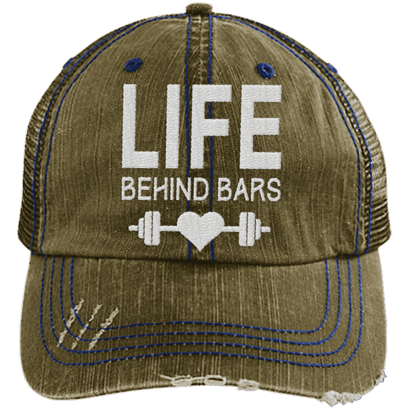 Life Behind Bars Hats CustomCat Brown/Navy One Size
