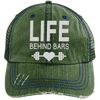 Life Behind Bars Hats CustomCat Dark Green/Navy One Size