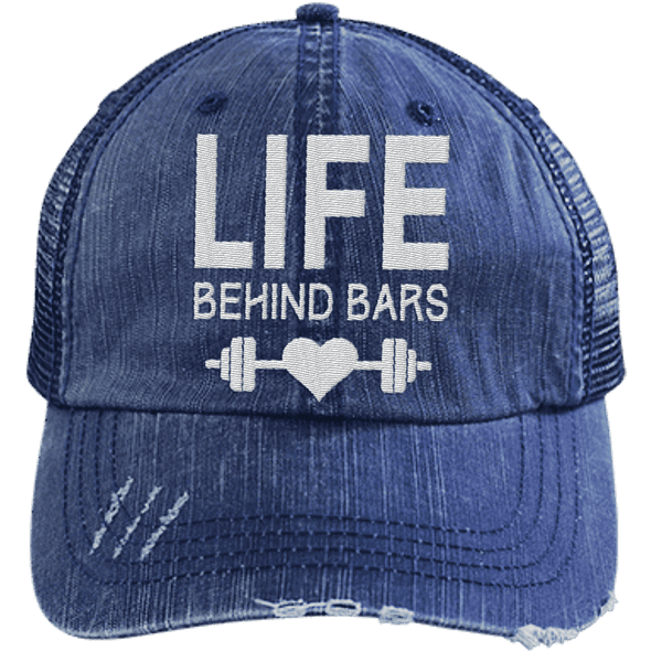 Life Behind Bars Hats CustomCat Navy/Navy One Size