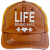 Life Behind Bars Hats CustomCat Orange/Navy One Size