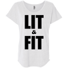 Lit & Fit Tees Apparel CustomCat NL6760 Next Level Ladies' Triblend Dolman Sleeve Heather White X-Small