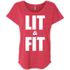 Lit & Fit Tees Apparel CustomCat NL6760 Next Level Ladies' Triblend Dolman Sleeve Vintage Red X-Small