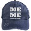 Me vs Me Distressed Trucker Cap Apparel CustomCat 6990 Distressed Unstructured Trucker Cap Navy/Navy One Size