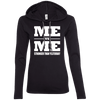 Me vs Me Hoodies Apparel CustomCat 887L Anvil Ladies' LS T-Shirt Hoodie Black/Dark Grey Small