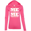 Me vs Me Hoodies Apparel CustomCat 887L Anvil Ladies' LS T-Shirt Hoodie Hot Pink/Neon Yellow Small