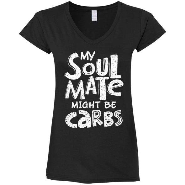 My Soulmate Might be Carbs - Light Apparel CustomCat Fitted T-Shirt Black S