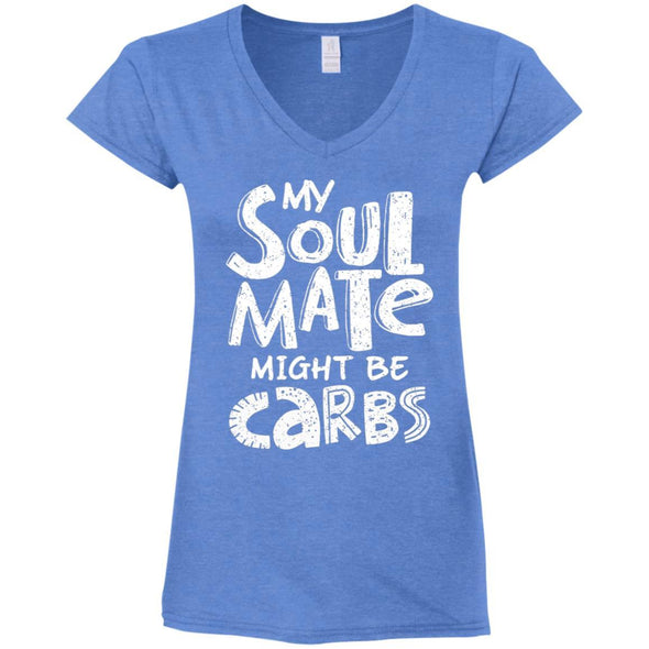 My Soulmate Might be Carbs - Light Apparel CustomCat Fitted T-Shirt Heather Royal S