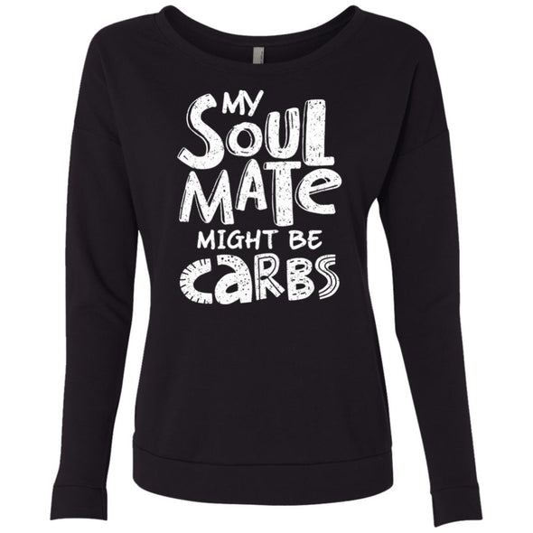 My Soulmate Might be Carbs - Light Apparel CustomCat French Terry Scoop Black S