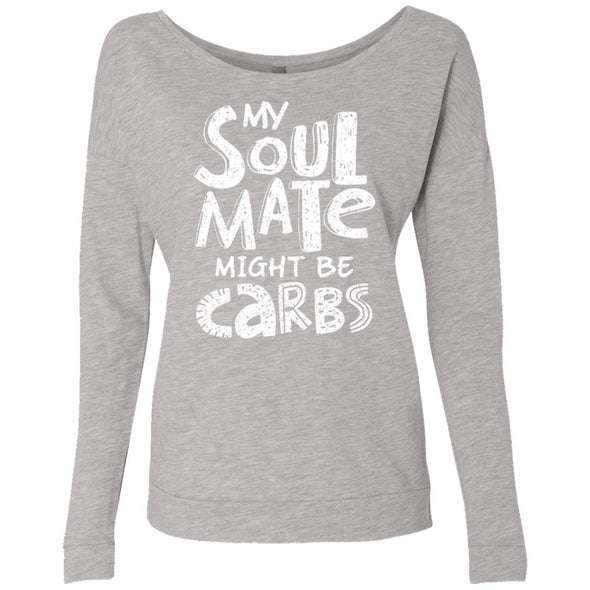 My Soulmate Might be Carbs - Light Apparel CustomCat French Terry Scoop Heather Grey S