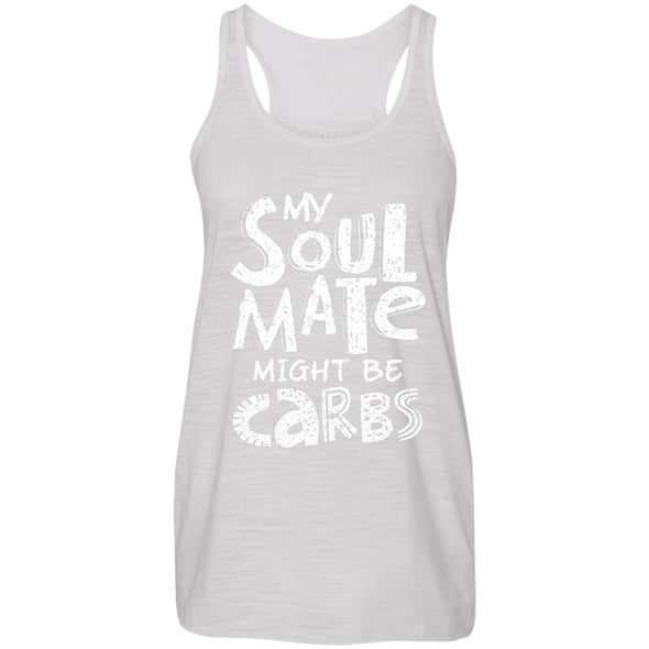 My Soulmate Might be Carbs - Light Apparel CustomCat Racerback Tank Vintage White S