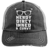Nerdy Dirty Inked Curvey Hats CustomCat Black/Grey One Size