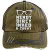 Nerdy Dirty Inked Curvey Hats CustomCat Brown/Navy One Size