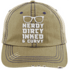 Nerdy Dirty Inked Curvey Hats CustomCat Khaki/Navy One Size