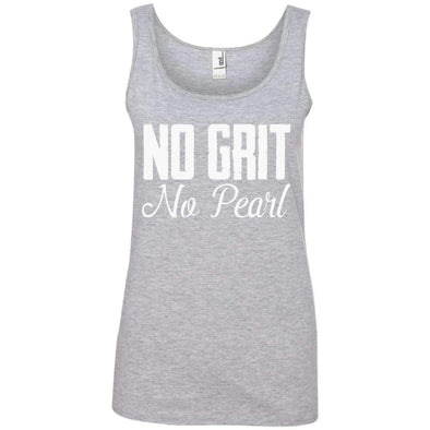 No Grit No Pearl T-Shirts CustomCat Heather Grey S