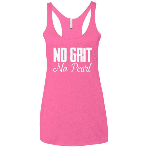 No Grit No Pearl T-Shirts CustomCat Vintage Pink X-Small