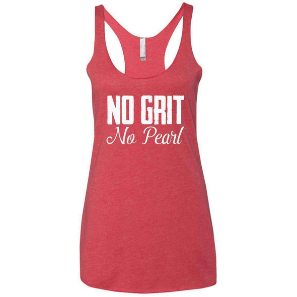 No Grit No Pearl T-Shirts CustomCat Vintage Red X-Small
