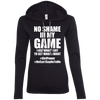 No Shame in My No Game Hoodies Apparel CustomCat 887L Anvil Ladies' LS T-Shirt Hoodie Black/Dark Grey Small