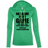 No Shame in My No Game Hoodies Apparel CustomCat 887L Anvil Ladies' LS T-Shirt Hoodie Heather Green/Neon Yellow Small