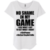 No Shame in My No Game Tees Apparel CustomCat NL6760 Next Level Ladies' Triblend Dolman Sleeve Heather White X-Small