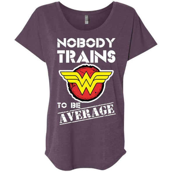Nobody Trains to be Average T-Shirts CustomCat Vintage Purple X-Small