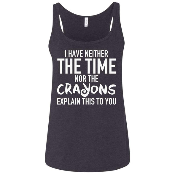 Nor the Crayons to Explain T-Shirts CustomCat Dark Heather Grey S