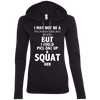 Not a Victoria's Secret Model Hoodies Apparel CustomCat 887L Anvil Ladies' LS T-Shirt Hoodie Black/Dark Grey Small