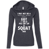Not a Victoria's Secret Model Hoodies Apparel CustomCat 887L Anvil Ladies' LS T-Shirt Hoodie Heather Dark Grey/Dark Grey Small
