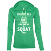 Not a Victoria's Secret Model Hoodies Apparel CustomCat 887L Anvil Ladies' LS T-Shirt Hoodie Heather Green/Neon Yellow Small