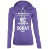 Not a Victoria's Secret Model Hoodies Apparel CustomCat 887L Anvil Ladies' LS T-Shirt Hoodie Heather Purple/Neon Yellow Small
