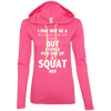 Not a Victoria's Secret Model Hoodies Apparel CustomCat 887L Anvil Ladies' LS T-Shirt Hoodie Hot Pink/Neon Yellow Small