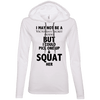 Not a Victoria's Secret Model Hoodies Apparel CustomCat 887L Anvil Ladies' LS T-Shirt Hoodie White/Dark Grey Small