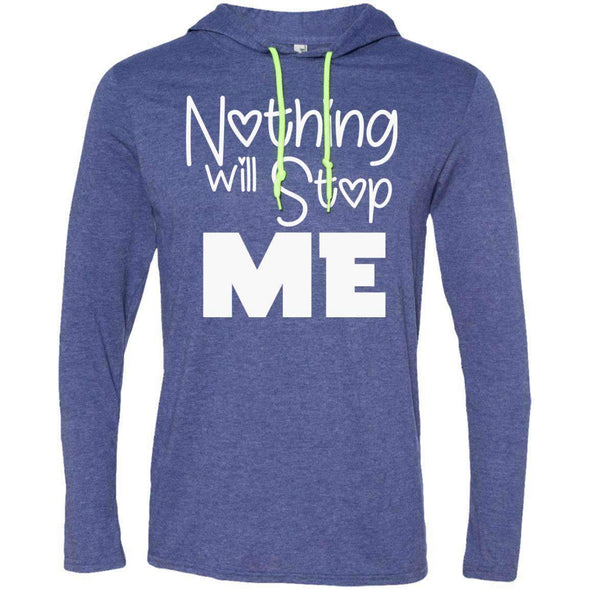 Nothing Will Stop Me T-Shirts CustomCat Heather Blue/Neon Yellow Small